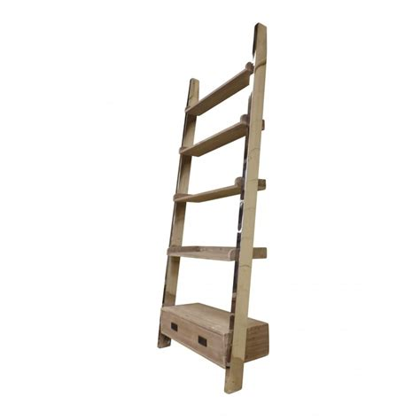European Design Industrial Ladder Bookshelf In Reclaimed Industrial Bookcase With Ladder