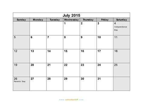 printable monthly calendar for july 2015 calendar 2015 printable july www pixshark com images