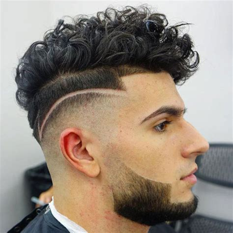 high skin fade with beard men s haircuts for curly hair