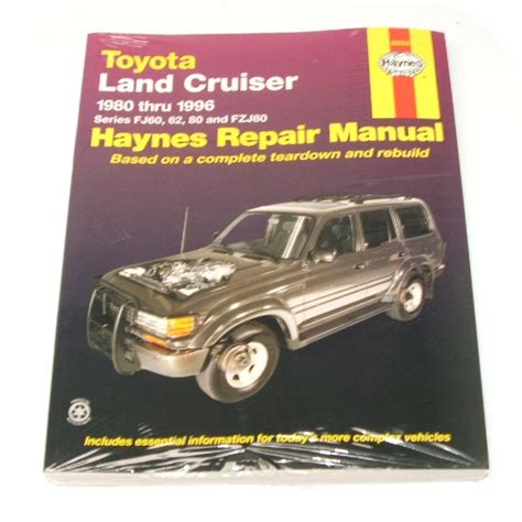 haynes toyota land cruiser 1980 1996 auto repair manual manual book toyota land cruiser fj60 fj62 fzj80 owners joetlc