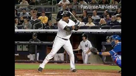 slow pitch softball homerun swing robinson cano hitting slow motion home run new york