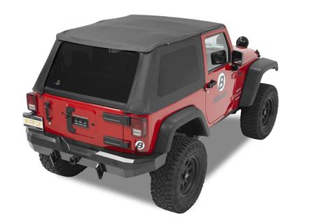 Best Top Jeep Bestop 174 Trektop Nx With 2 Soft Doors In Black