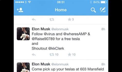 elon musk twitter tesla website twitter account musk twitter briefly hacked