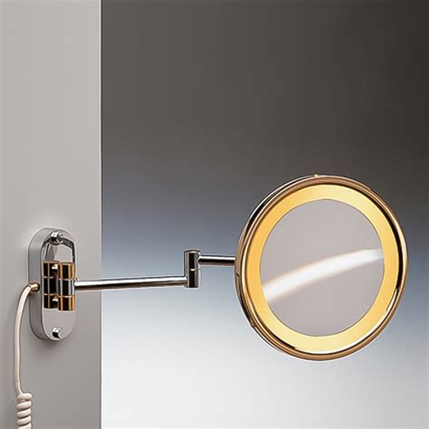 wall mounted lighted magnifying bathroom mirror pkgny com shop nameeks windisch gold brass magnifying wall mounted