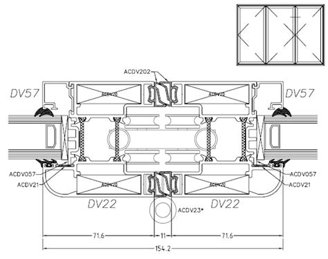horizontal cross section aluminium folding doors waltham cross hertfordshire