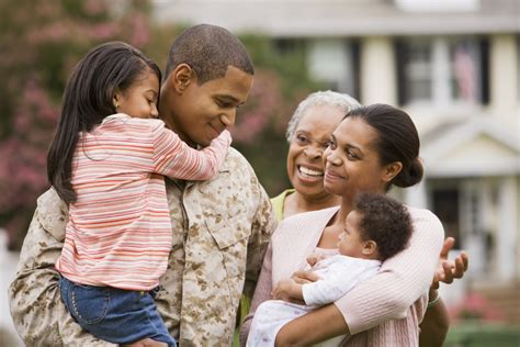images of family adjusting to life after military deployment wellness