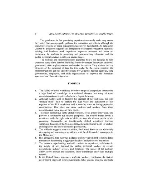 summary building americas skilled technical workforce  national academies press