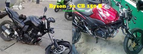 Shock Depan Yamaha Byson saat kecelakaan shock depan byson patah sedang cb 150