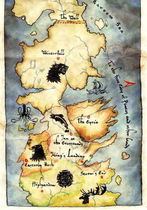 map layout for game of thrones map winter is coming