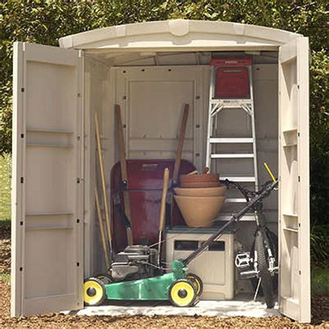suncast 174 large storage shed 138474 patio storage at