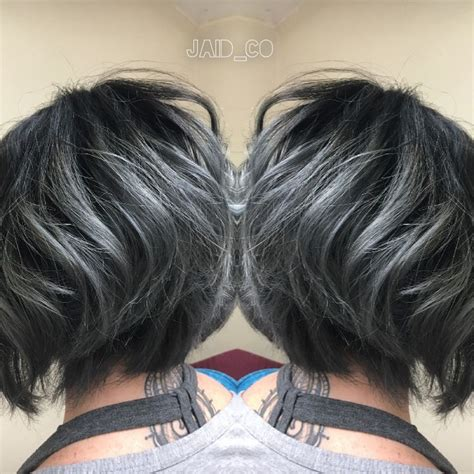short haircuts brunettes with gray highlights 25 best ideas about short gray hair on pinterest going