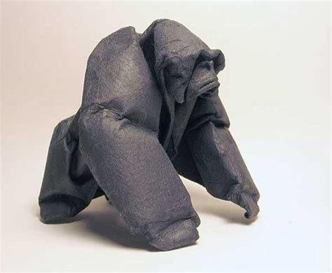 How To Make Origami Gorilla - gorilla origami sculpture by giang dinh giang dinh