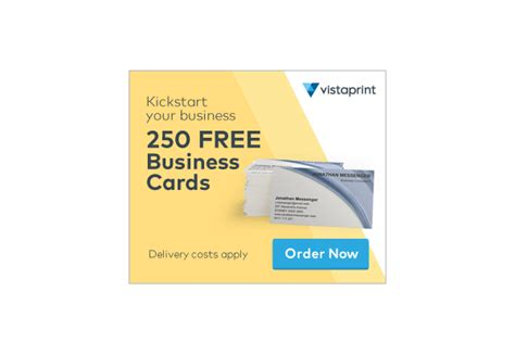 Vistaprint 250 Free Business Cards