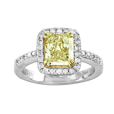 2 1 4 ct t w radiant cut yellow and white