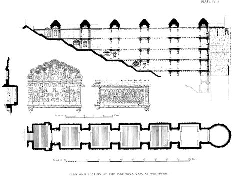 section 79 plan file plan and section of madhavav a stepwell in wadhwan