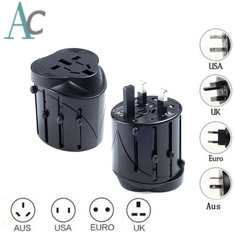 Paling Dicari All In One Eu Au Uk Us World Universal Travel Adap all in one universal international adapter world travel ac power charger adaptor au us uk