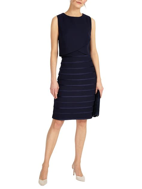 Layered Dress phase eight gaia layered dress navy neck