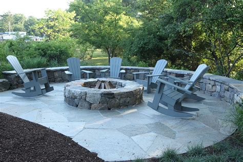 rock firepit attractive and easy to make pit designs ideas
