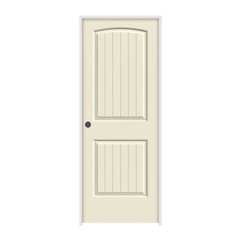 Home Depot Prehung Interior Doors Jeld Wen 30 In X 80 In Molded Smooth 2 Panel Arch Plank Primed White Solid Composite