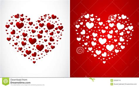 heart made of small hearts royalty free stock image