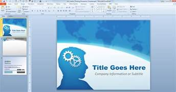 free templates powerpoint 2007 free creative thinking powerpoint template