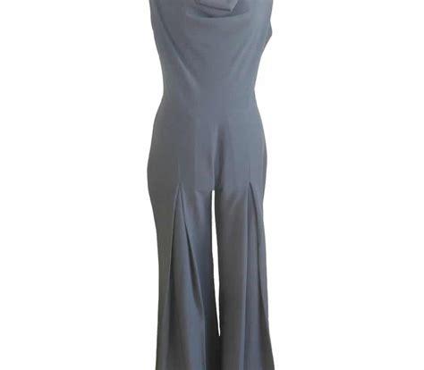 Jumpsuit Gray Donna donna jumpsuit grey house of ilona designer clergy dresses