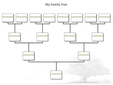 Blank Family Tree Template Cyberuse Family Tree Templates For Microsoft Word
