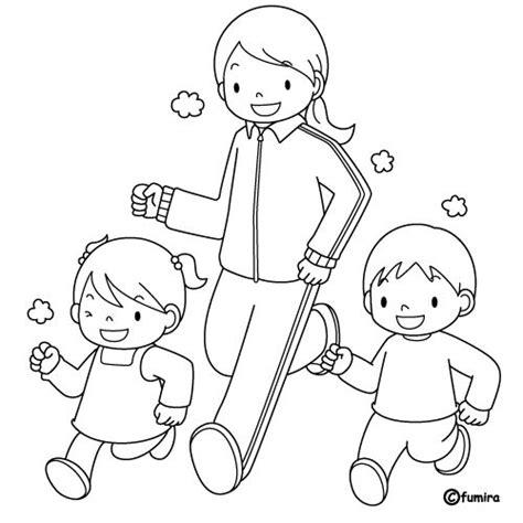 imagenes niños haciendo deporte para colorear imagenes de ninos haciendo ejercicios imagui
