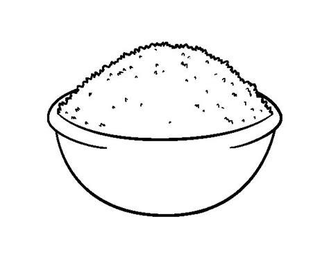 rice dish coloring page coloringcrew com