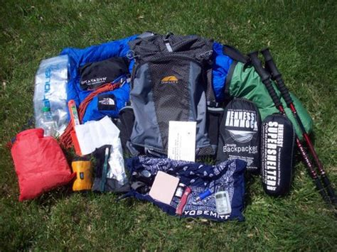 section hiker gear list lightweight backpacking jim hunt s gear list section