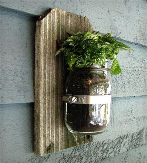 14 Do It Yourself Mason Jar Planters Diy To Make Jar Wall Planter