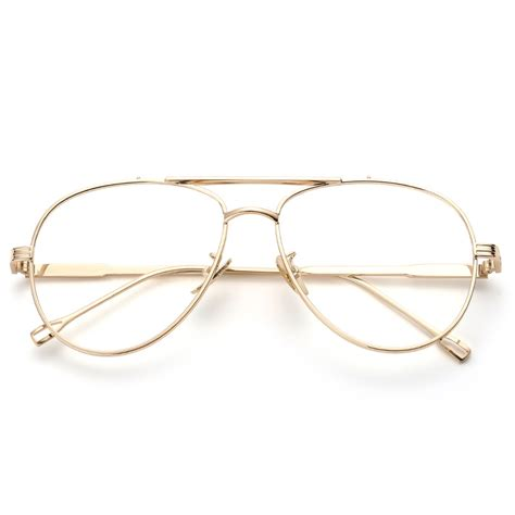 Aviator Metal Eyeglasses Frame high quality clear lens glasses brand designer
