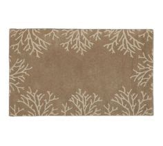pottery barn starfish rug coral border rug potterybarn coastal cottage border rugs coral and rugs