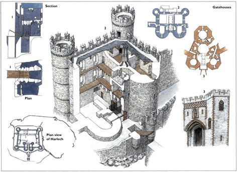 harlech castle floor plan medival building on pinterest medieval castle castles
