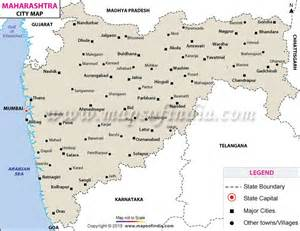 buy map of maharashtra cities