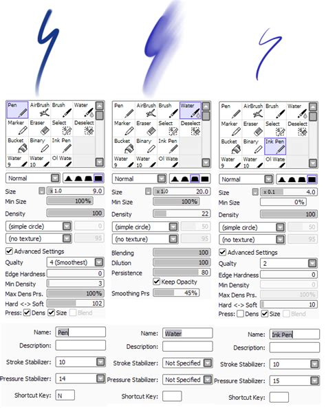 of paint tool sai paint tool sai brushes by lesheketai on deviantart