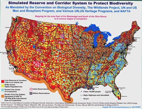 agenda 21 map of the united states water wars colossal land grab by the un and the feds