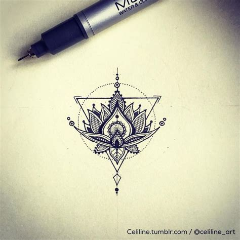 tattoo lotus geometric 25 ide top geometric mandala tattoo terbaik di pinterest