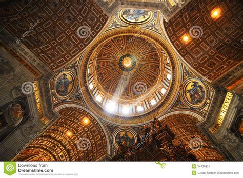 Cupola San Pietro San Pietro Basilica Interior Editorial Photo Image Of