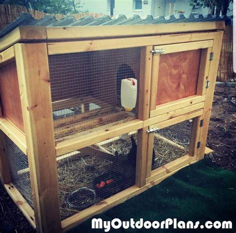 diy small rabbit hutch myoutdoorplans  woodworking