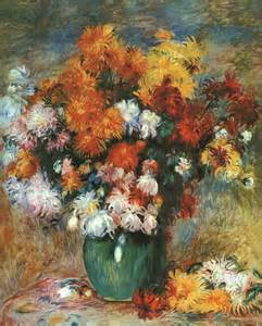 Discount Floral Vases Oil Painting Reproduction Of Renoir Vase Of Chrysanthemums