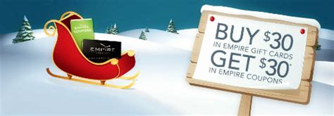Empire Gift Card - canadian deals buy 30 empire theatres gift card get 30 in coupons canadian