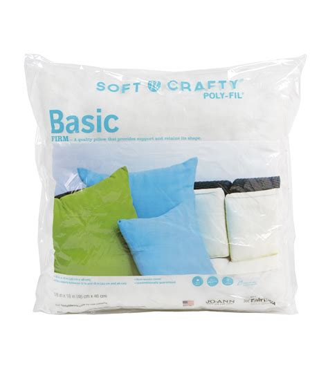 Joanns Pillow Forms by Basic 18x18 Firm At Joann