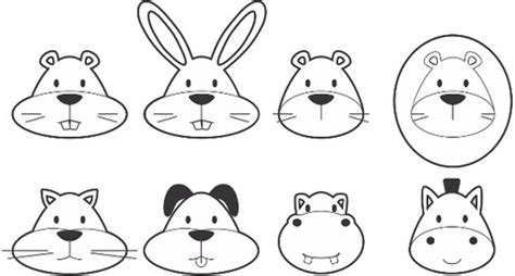 printable animal noses print and color stickers of animals free printable
