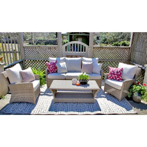 ae outdoor oakmont 6 piece all weather wicker patio