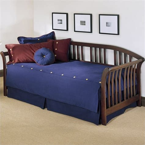 wood day bed fashion bed group salem wood mahogany finish daybed ebay