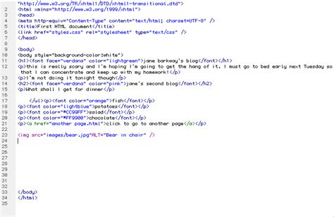 html code written work html and css analysis and coding plainyjane