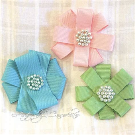 How To Make Handmade Flowers From Ribbon - craftionary