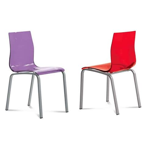 chaises en plexiglas chaise design en plexi gel domitalia 174 4 pieds tables