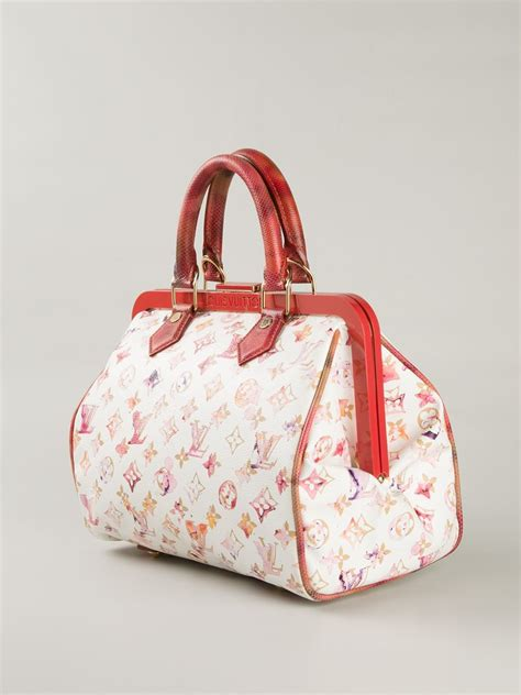 Bag Louis Vuitton Spedi Mix Cristal Set 2 In One Series 1 louis vuitton speedy limited edition tote in white lyst
